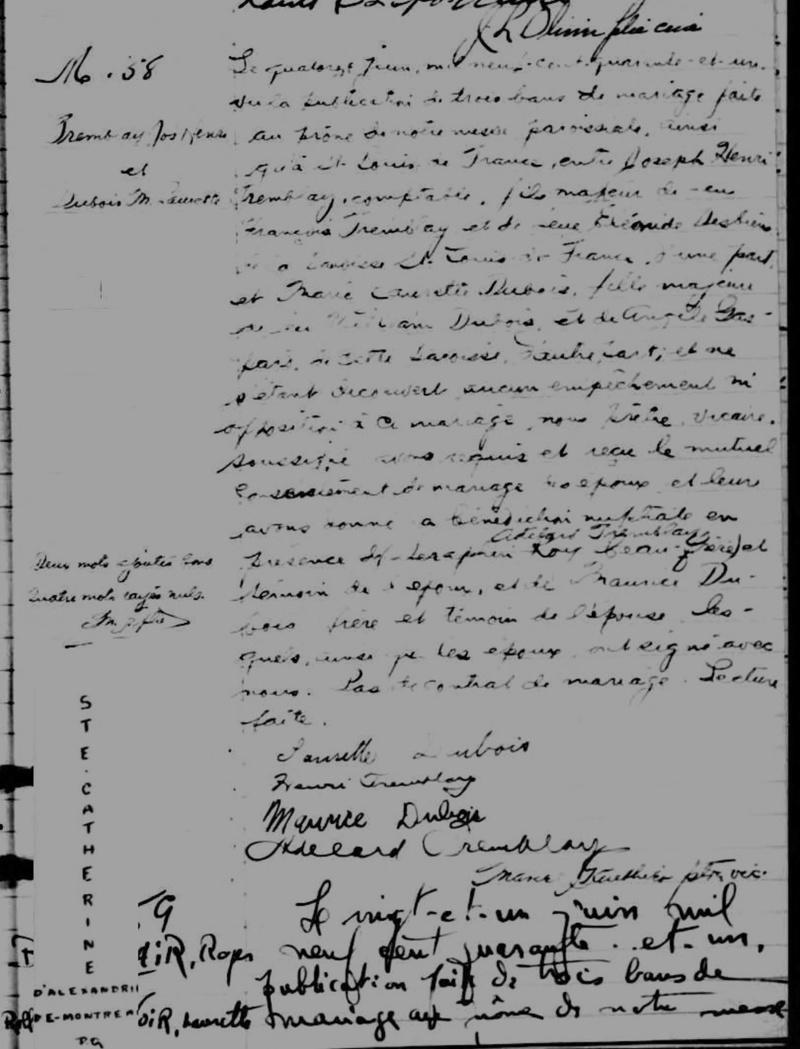 Mariage de William Dubois & Angèle Gaspard Mariag25