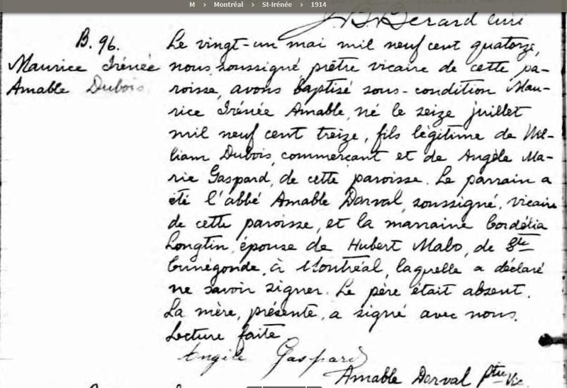 Mariage de William Dubois & Angèle Gaspard Naissa39