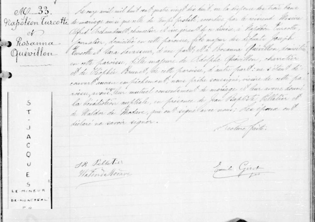 Mariage de William Dubois & Angèle Gaspard Napoly10
