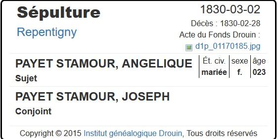 mariage entre Joseph Payet et Cécile Beaudouin Angyli10