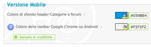 Nuovo tema mobile per i forum Forumattivo Scherm11