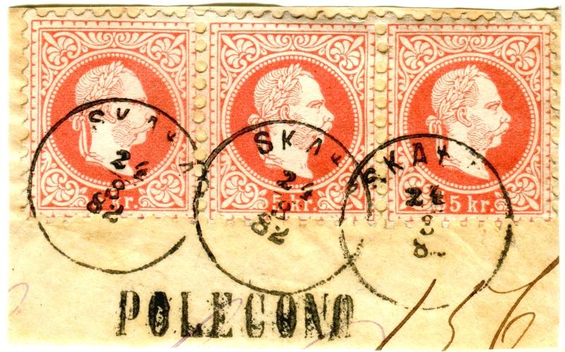 Rekommandationsstempel  bei 1867er Xx15510