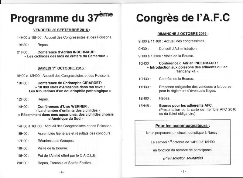 37ème CONGRÈS AFC Champs-Le-Boeuf(54) du 30/09 au 02/10/2016 Congre13