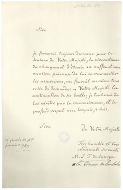 lettres de la princesse de Lamballe Zducre10