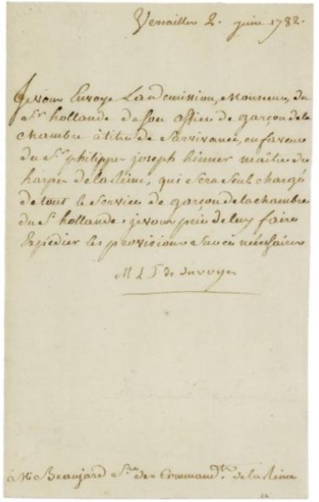 lettres de la princesse de Lamballe Zducre24