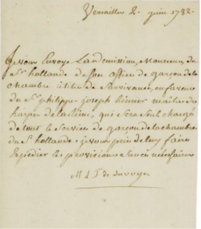lettres de la princesse de Lamballe Zducre25