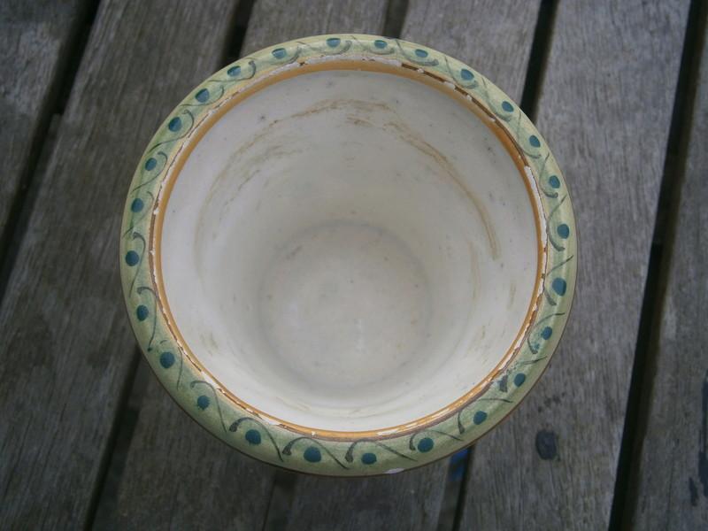 Italian majolica pot -  Società Ceramica Colonnata P7140511