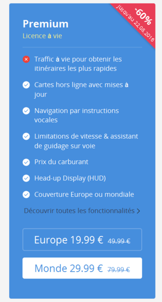 Sygic sur telephone Android / IOS Sygic11