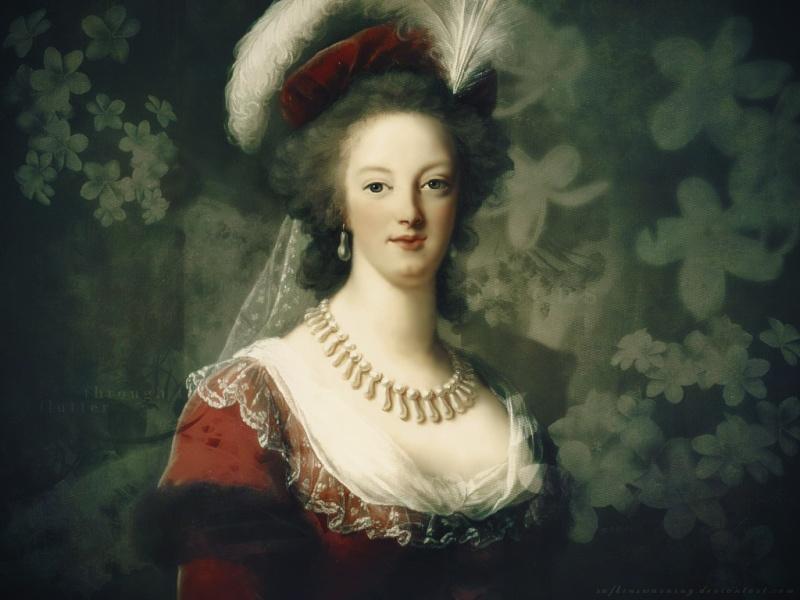 Marie-Antoinette en robe rouge sans ses enfants _marie10