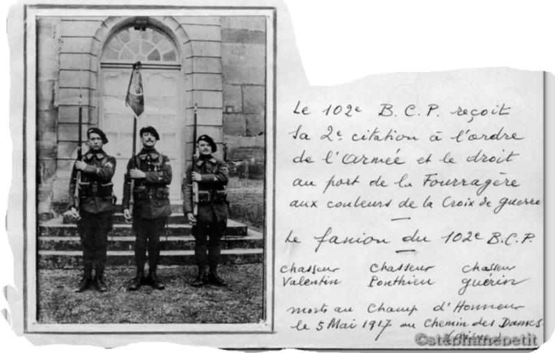 Jean Petit, officier du 102° B.C.P. 1916-1918. 10212