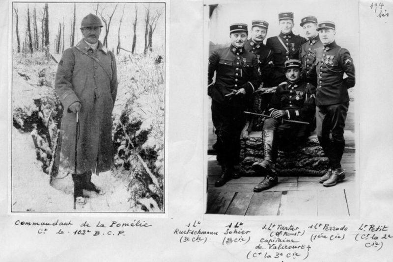 Jean Petit, officier du 102° B.C.P. 1916-1918. Jp10210