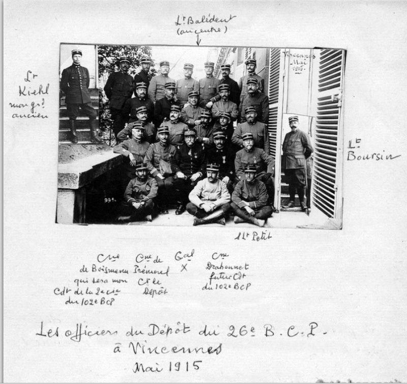 Jean Petit, officier du 102° B.C.P. 1916-1918. Jp10bi10