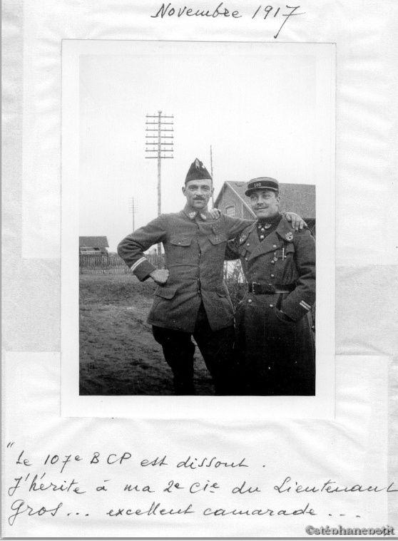 Jean Petit, officier du 102° B.C.P. 1916-1918. Jp11714