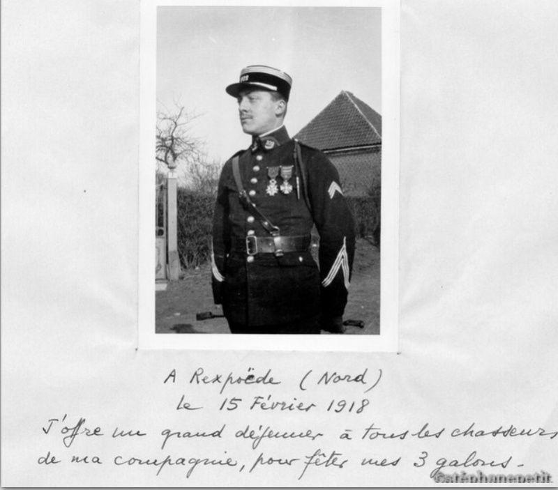 Jean Petit, officier du 102° B.C.P. 1916-1918. Jp12013