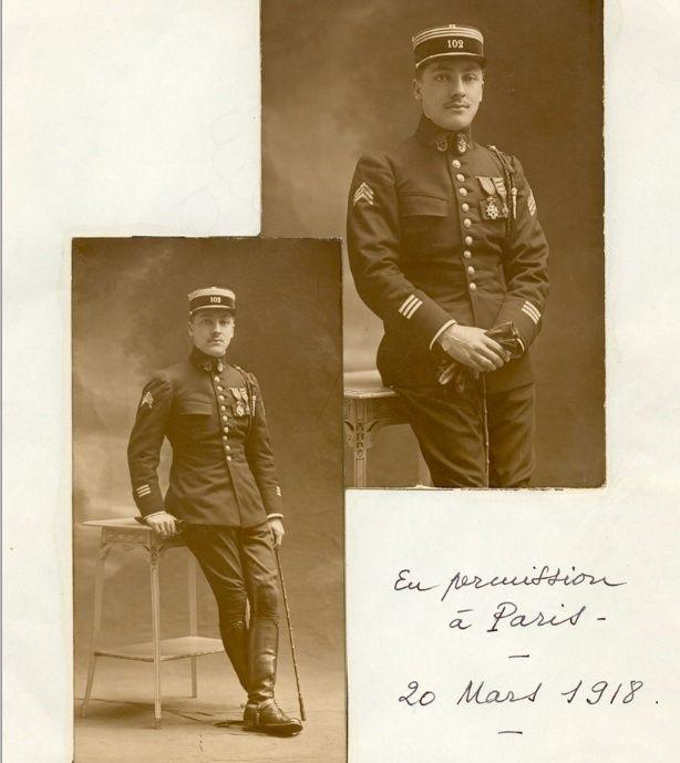 Jean Petit, officier du 102° B.C.P. 1916-1918. Jp12113