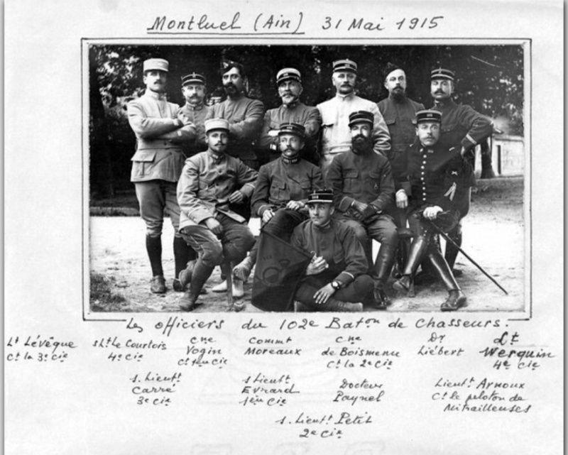 Jean Petit, officier du 102° B.C.P. 1916-1918. Jp1310