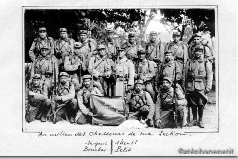 Jean Petit, officier du 102° B.C.P. 1916-1918. Jp1410