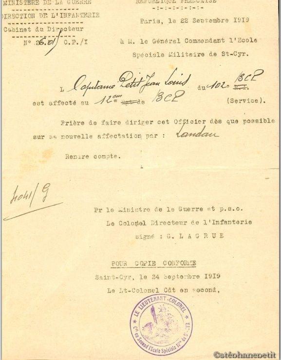 Jean Petit, officier du 102° B.C.P. 1916-1918. Jp14310
