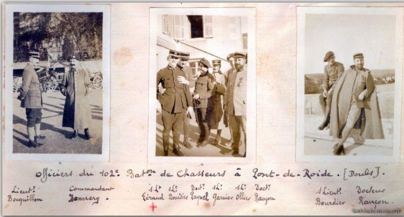Jean Petit, officier du 102° B.C.P. 1916-1918. Jp3311