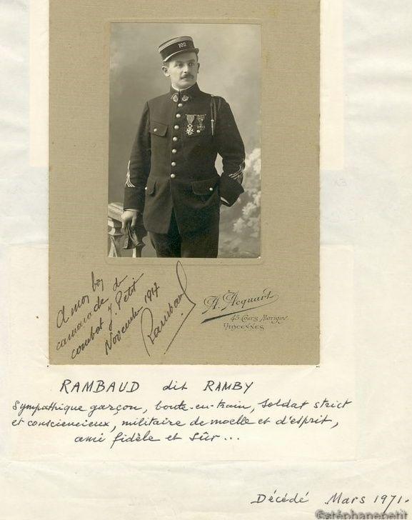 Jean Petit, officier du 102° B.C.P. 1916-1918. Jp4510