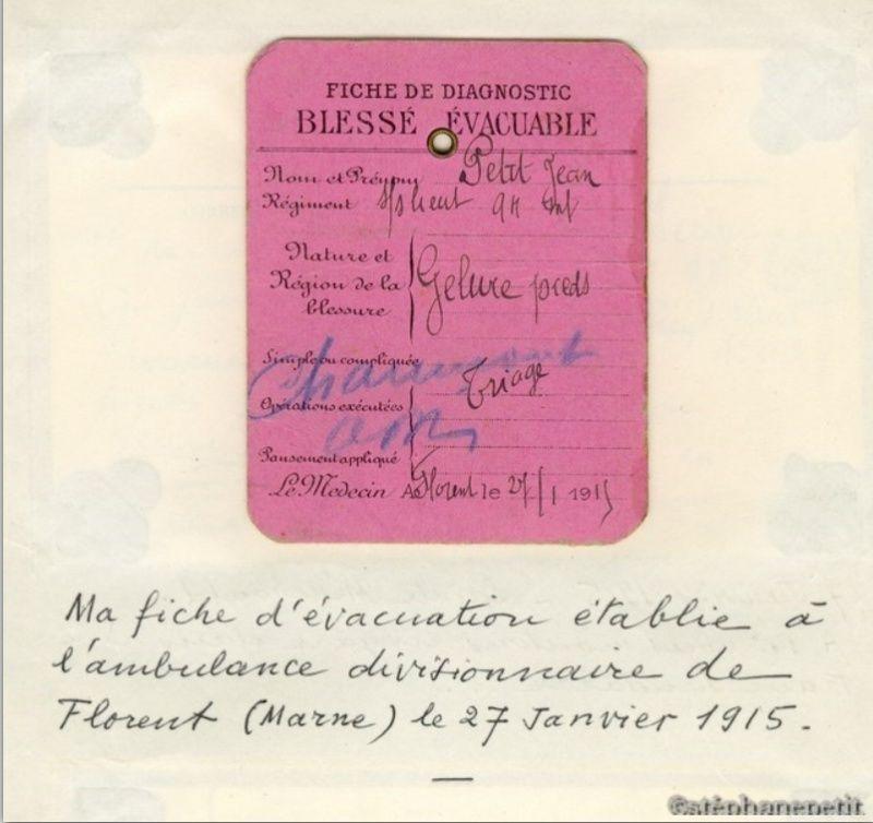 Jean Petit, officier du 102° B.C.P. 1916-1918. Jp610