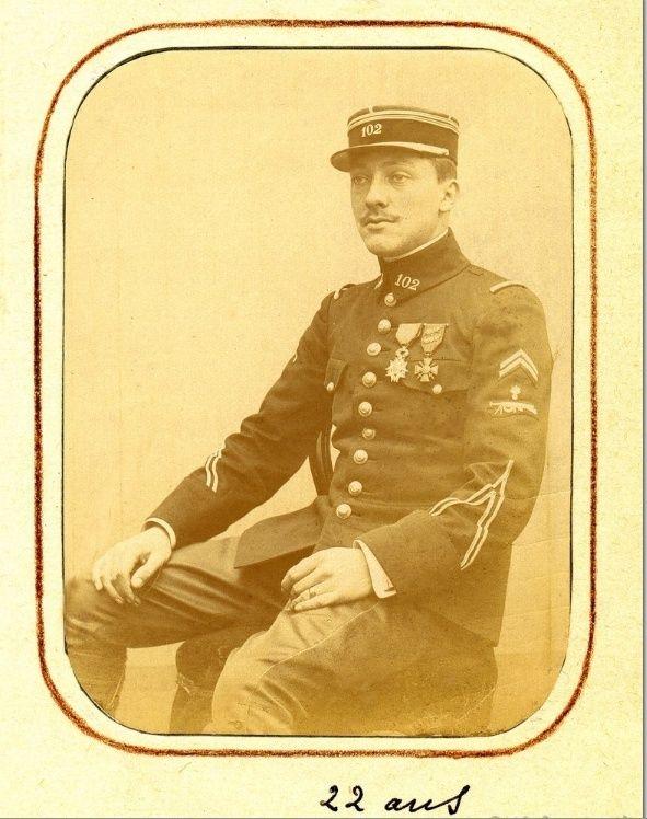 Jean Petit, officier du 102° B.C.P. 1916-1918. Jp7111
