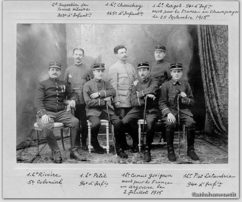 Jean Petit, officier du 102° B.C.P. 1916-1918. Jp810