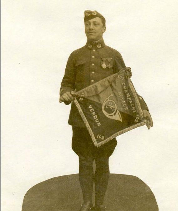Jean Petit, officier du 102° B.C.P. 1916-1918. Jp9210