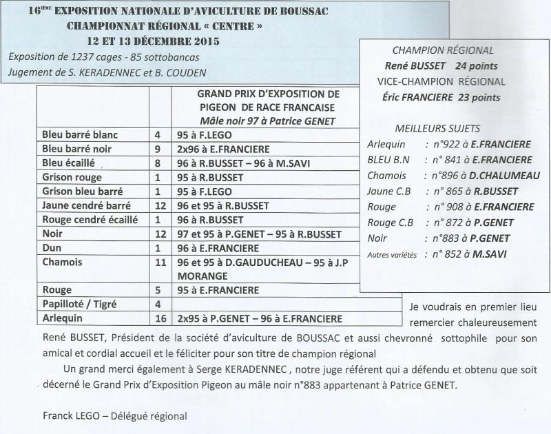 16éme exposition d'aviculture de BOUSSAC (Source le bulletin N°120) Scane_13