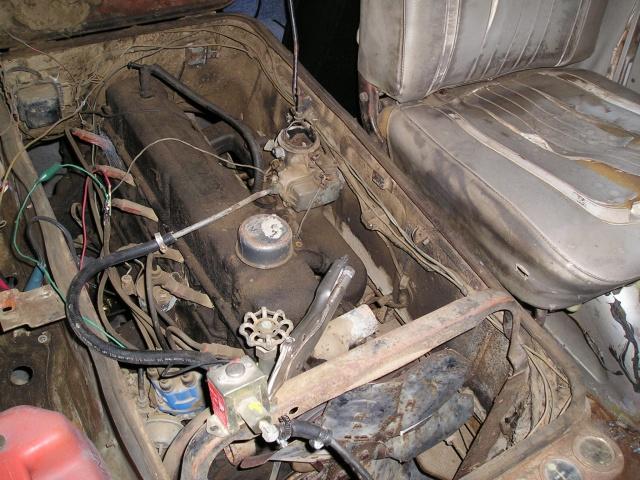 Russell's '66 Sportvan Deluxe Engine12
