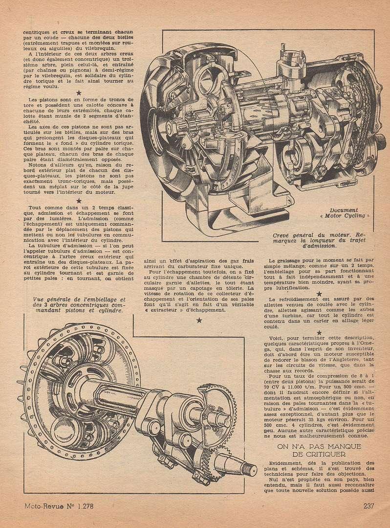 Moteurs étranges 1ere partie:  le moteur OMEGA Moteu104