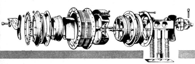 Moyeu frein + suspension intégrés ..... en 1950 Moyeu_12