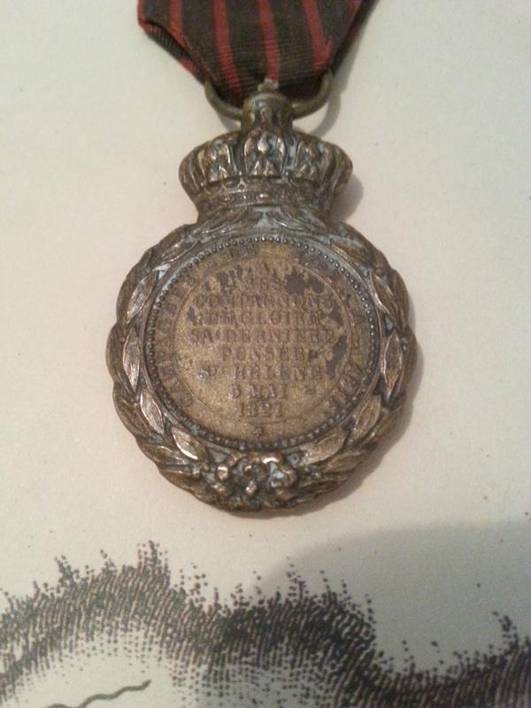 Les rubans de la médaille de Sainte Hélène. 20160816
