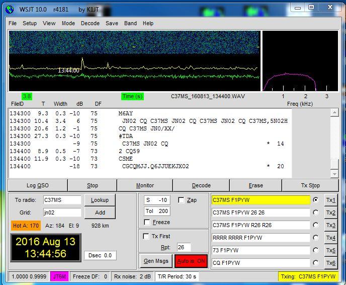 activité sur 50mhz en JT6M C31_jt10