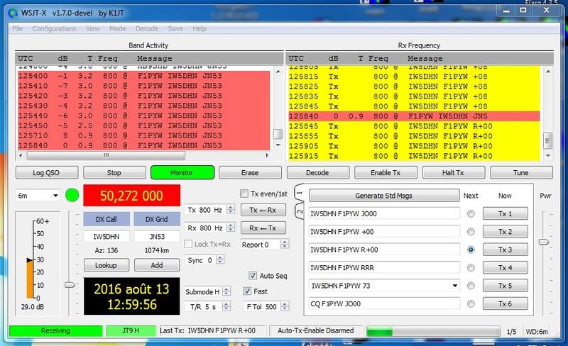 activité sur 50mhz en JT9 Iw5_jt10