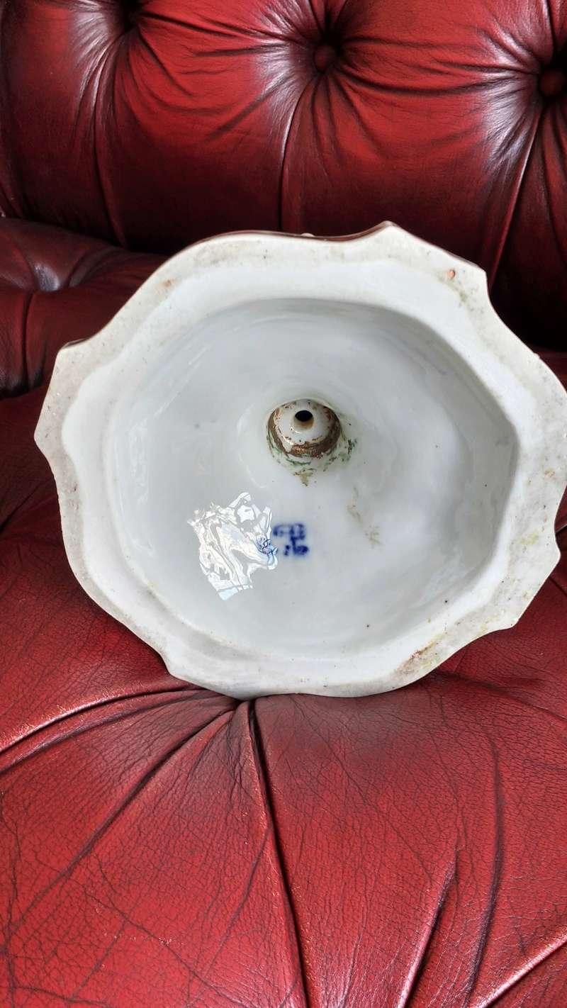 porcelain candlestick blue underglazed mark help please Img_2049