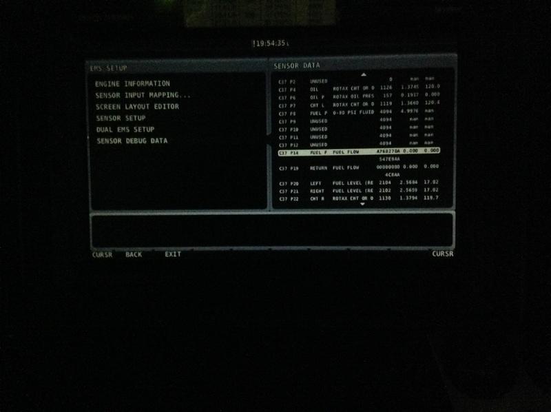 Calibrage du fuel flow débitmètre skyview Image14