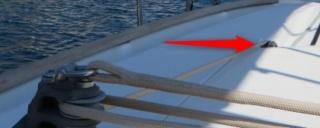 Poulie plat pont de renvoi de chariot d'écoute de gv sur Océanis 43 Plan_p10