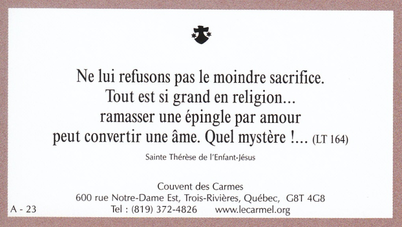 Petites paroles de Sainte-Thérèse de l'Enfant-Jésus et de la Sainte-Face - Page 2 A-2310