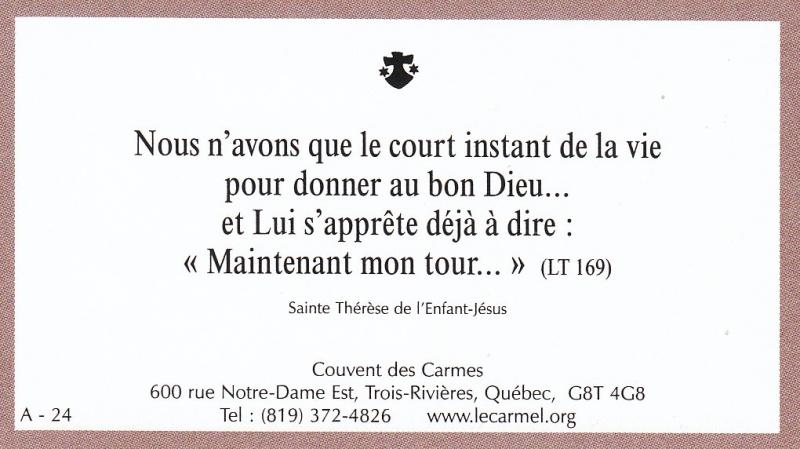 Petites paroles de Sainte-Thérèse de l'Enfant-Jésus et de la Sainte-Face - Page 2 A-2410