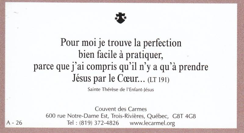 Petites paroles de Sainte-Thérèse de l'Enfant-Jésus et de la Sainte-Face - Page 2 A-2610