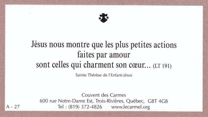 Petites paroles de Sainte-Thérèse de l'Enfant-Jésus et de la Sainte-Face - Page 2 A-2710