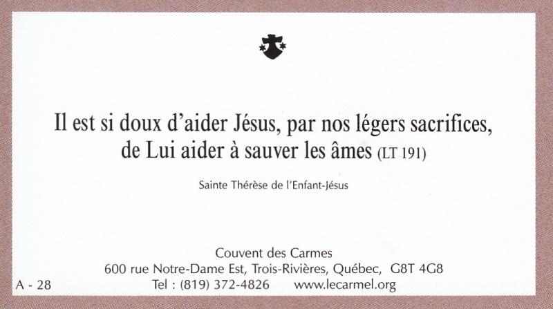 Petites paroles de Sainte-Thérèse de l'Enfant-Jésus et de la Sainte-Face - Page 2 A-2810