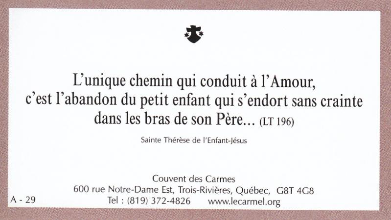 Petites paroles de Sainte-Thérèse de l'Enfant-Jésus et de la Sainte-Face - Page 2 A-2910