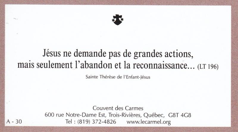 Petites paroles de Sainte-Thérèse de l'Enfant-Jésus et de la Sainte-Face - Page 2 A-3010