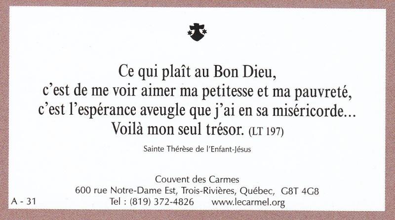 Petites paroles de Sainte-Thérèse de l'Enfant-Jésus et de la Sainte-Face - Page 2 A-3110