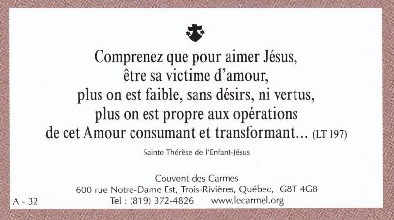 Petites paroles de Sainte-Thérèse de l'Enfant-Jésus et de la Sainte-Face - Page 2 A-3210
