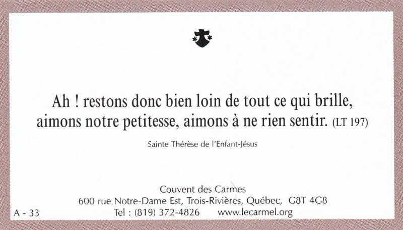 Petites paroles de Sainte-Thérèse de l'Enfant-Jésus et de la Sainte-Face - Page 2 A-3310