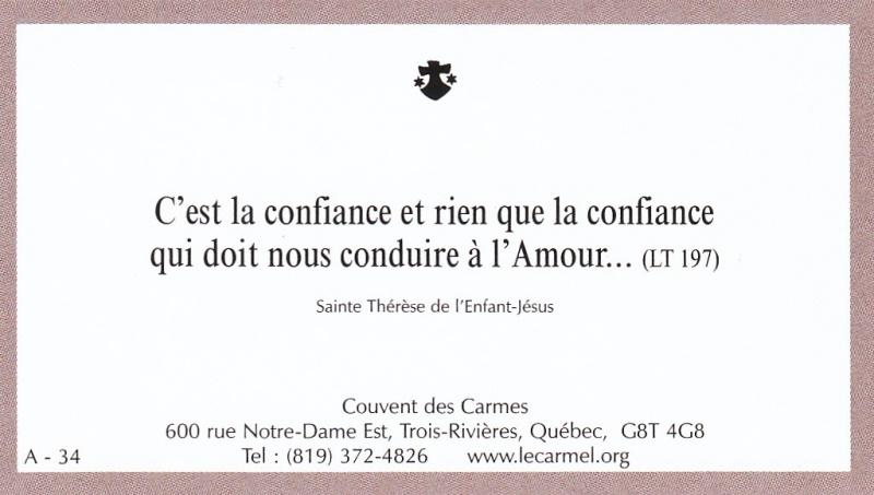 Petites paroles de Sainte-Thérèse de l'Enfant-Jésus et de la Sainte-Face - Page 2 A-3410