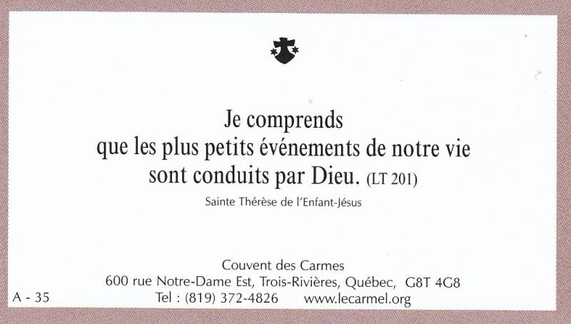 Petites paroles de Sainte-Thérèse de l'Enfant-Jésus et de la Sainte-Face - Page 2 A-3510